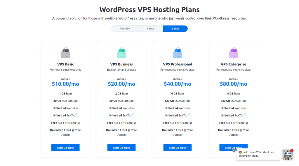 DreamHost's VPS WordPress Hosting Plans