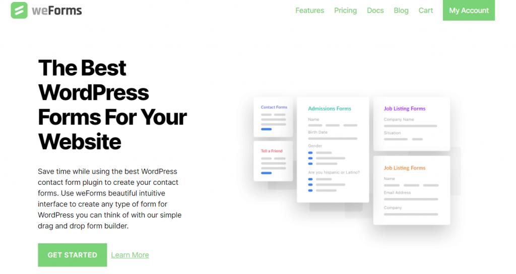 weForms WordPress Form