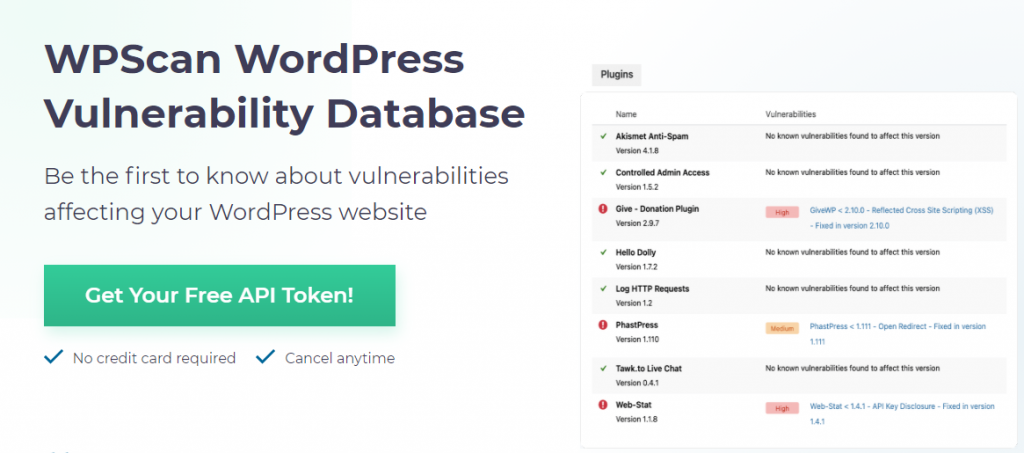 WPScan detect WordPress site issues