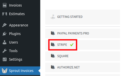 getting started with stripe