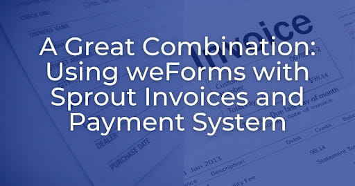 sprout weforms integration banner