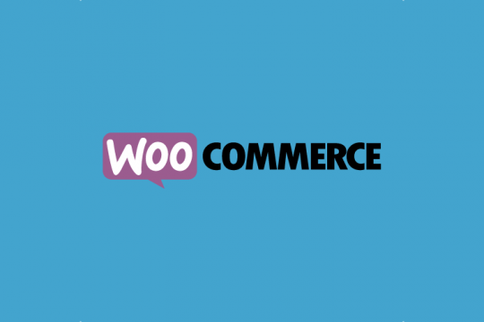 WooCommerce brand logo with blue background